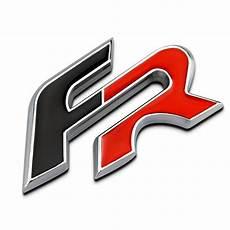 seat black fr chrome metal car styling emblem 3d badge