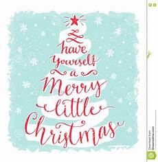 have yourself a merry little christmas greeting card with calligraphy in the shape of tree