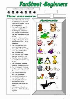animal worksheets description 13834 funsheet for beginners animals worksheet free esl printable worksheets made by teachers