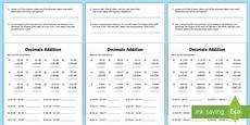 10 digits addition with decimals decimals addition worksheet worksheet decimals