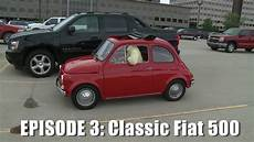 drives classic fiat 500 car and driver