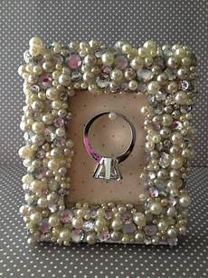the busy broad diy picture frame ring holder