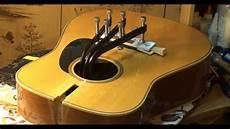 how to fix a guitar bridge acoustic guitar bridge installation repair echowebb