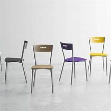 chaises cuisine design 91893 chaise de cuisine moderne en bois et m 233 tal versus 4 pieds