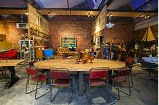 Grande Table Ovale En Teck Et Pied M 233 Tallique Industriel