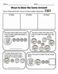 money worksheets how many ways to show an amount ways to show the same amount math counting money pinterest worksheets counting money and