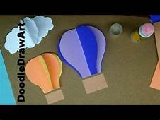 Paper Craft How To Make Hot Air Balloon Wall Decorations