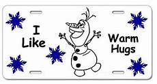 frozen olaf i like warm hugs snowman white decorative
