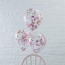 ballons mit konfetti ballons mit konfetti bunt 5 st weddix de