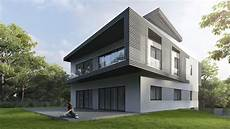 photorealistic architectural render for modern house exterior archicgi