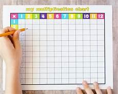 free printable multiplication chart craft school