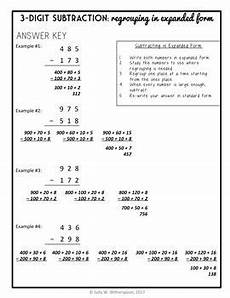 subtraction in expanded form 3 digit subtraction w