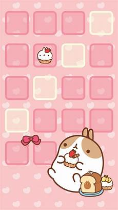 Home Screen Kawaii Wallpaper Iphone molang cupcake home screen kawaii home