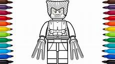 how to draw lego wolverine marvel superheroes coloring