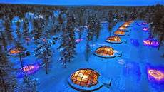 Iglu Hotel Finnland - glass igloo in finland once in a lifetime experience