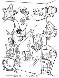 Malvorlage Nemo Fisch Finding Nemo The Tank Coloring Page
