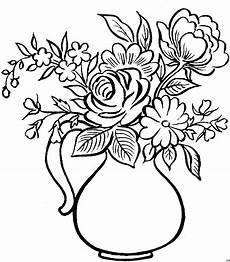 Gratis Malvorlagen Blumen Krug Mit Ausmalbild Malvorlage Mode Und Kunst