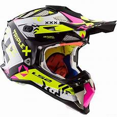 casque cross ls2 mx470 subverter triplex black pink h