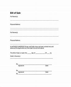 free 9 sle bill of sale forms in pdf ms word