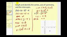 graphing quadratic functions in standard form vertex form youtube
