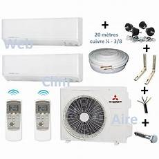 split de climatisation climatiseur r 233 versible bi split 3 5 avec accessoire de