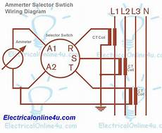 ammeter selector switch wiring diagram explanation electrical online 4u