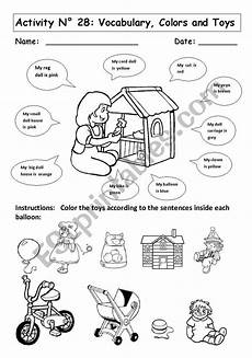 worksheets colors and toys 12707 colors and toys esl worksheet by andresdomingo
