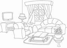 ausmalbilder malvorlagen wohnzimmer kostenlos zum