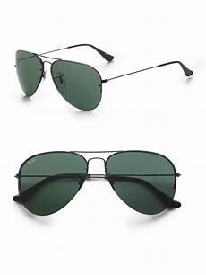 ban interchangeable lens aviator sunglasses in black