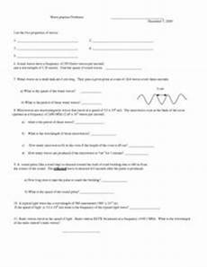wave practice problems 9th 12th grade worksheet lesson