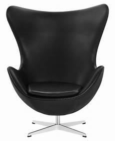 Fauteuil Pivotant Egg Chair Fritz Hansen Noir Made In