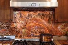copper backsplash in the kitchen cottage journal