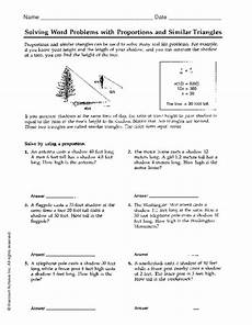 shapes ratios worksheet 1253 solving word problems with proportions and similar triangles worksheet for 6th 7th grade