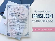 translucent wedding invitation diy with download print