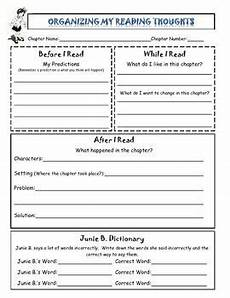 this reading reflection allows students to organize their thoughts before during and after