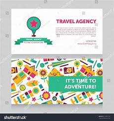 travel agency business card design template design template travel agency business card stock vector