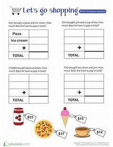 money shopping list worksheets 2221 nickel dime word problems worksheets word problems worksheets and learning
