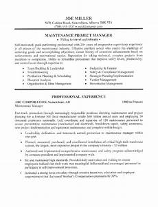 resume objective exles maintenance worker maintenance worker resume