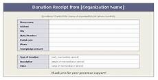 receipt for donation of goods template donation receipt