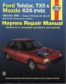 book repair manual 1999 mazda 626 engine control ford telstar tx5 mazda 626 1987 1992 gregorys service repair manual sagin workshop car manuals