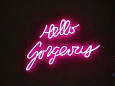 pink quot hello gorgeous quot neon led sign neon like art sign