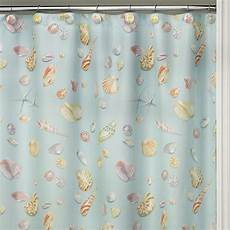 seashell shower curtain sea shell starfish bathroom bath shower curtain blue
