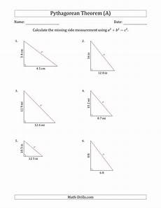 calculate the hypotenuse using pythagorean theorem no rotation a