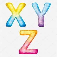 Buchstaben Malvorlagen Xyz Alfabeto Abstrato Colorido Do Vetor Letras X Y Z Vetor