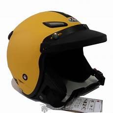jual helm bogo jpn momo vintage retro klasik kuning yellow doff pet topi jeruk kaca di