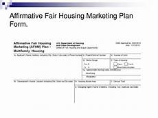 affirmative fair housing marketing plan ppt fair housing powerpoint presentation free download