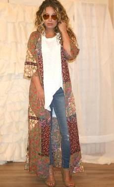 shira bohemian patchwork duster veste longue boh 232 me et