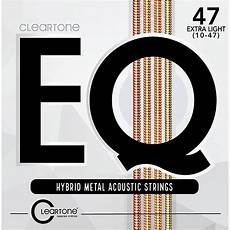 guitar strings 12 53 cleartone eq hybrid metal series light acoustic guitar strings 12 53 musician s friend
