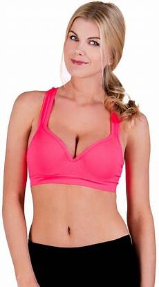 solid color underwire push up sports bra push up