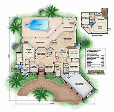 house plans with pools in the middle courtyard mediterranean style house plans pool kerala